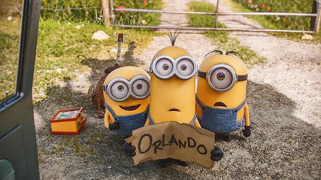 Bob, Kevin, and Stuart in Minions.