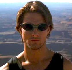 Tom Cruise is Ethan Hunt in Mission Impossible II.