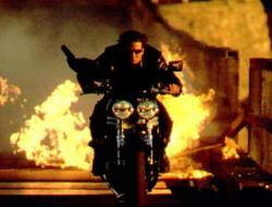 Tom Cruise shows off his star quaility as Ethan Hunt in Mission Impossible II.