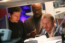 Tom Cruise, Ving Rhames and Simon Pegg in Mission: Impossible III.