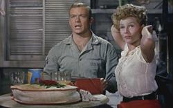 Aldo Ray and Rita Hayworth in Miss Sadie Thompson