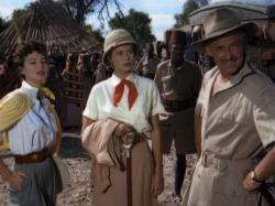 Ava Gardner, Grace Kelly and Clark Gable in Mogambo.