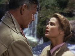 Clark Gable and Grace Kelly in Mogambo.