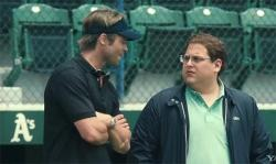 Brad PItt and Jonah Hill in Moneyball.