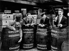 Harpo, Zeppo, Chico and Groucho stow away aboard a ship in Monkey Business.