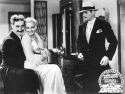 Groucho, Thelma Todd and Harry Woods in Monkey Business.