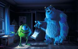 Billy Crystal voices Mike while John Goodman voices Sulley in Monsters, Inc.