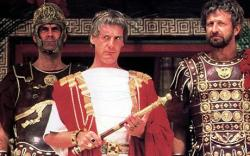 John Cleese, Michael Palin and Graham Chapman in Monty Python's Life of Brian.