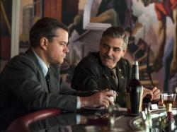Matt Damon and George Clooney in The Monuments Men.