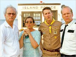 Bill Murray, Fraces McDormand, Edward Norton and Bruce Willis in Moonrise Kingdom.
