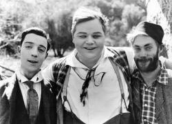 Buster Keaton, Roscoe Arbuckle and Al St. John in Moonshine.