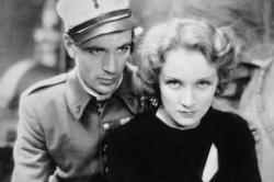 Gary Cooper and Marlene Dietrich in Morocco.