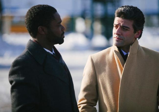 David Oyelowo and Oscar Isaac in A Most Violent Year.