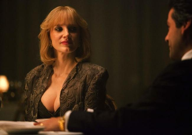 Jessica Chastain's breasts in A Most Violent Year