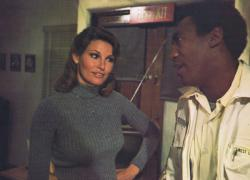 Raquel Welch and Bill Cosby in Mother, Jugs & Speed.