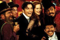 Ewan McGregor, Nicole Kidman and John Leguizamo in Moulin Rouge.