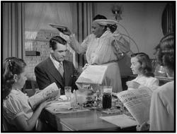 Cary Grant, Louise Beavers and Myrna Loy in Mr. Blandings Builds His Dream House.