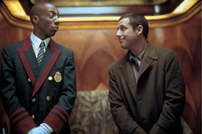 J.B. Smoove and Adam Sandler in Mr. Deeds.
