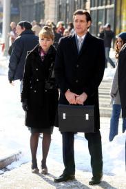 Ophelia Lovibond  and Jim Carrey in Mr Popper's Penguins.
