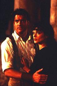 Brendan Fraser and Rachel Weisz in The Mummy.