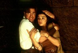 Brendan Fraser and Rachel Weisz in Mummy Returns.