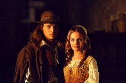 Justin Chambers and Mena Suvari in The Musketeer.