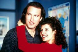 John Corbett and Nia Vardalos in My Big Fat Greek Wedding.
