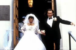 Nia Vardalos and John Corbett in My Big Fat Greek Wedding.