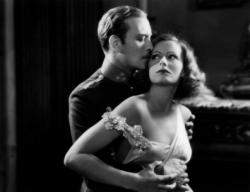 Conrad Nagel and Greta Garbo in The Mysterious Lady.