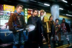 William H. Macy, Ben Stiller, Hank Azaria, Janeane Garofalo, Paul Reubens and Kel Mitchell in Mystery Men.