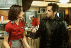 Claire Forlani and Ben Stiller in Mystery Men.