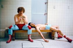 Jack Black and Hector Jimenez in Nacho Libre.