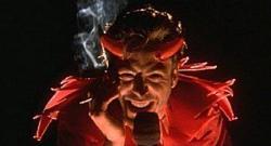 Robert Downey Jr as obvious imagery in Natural Born Killers