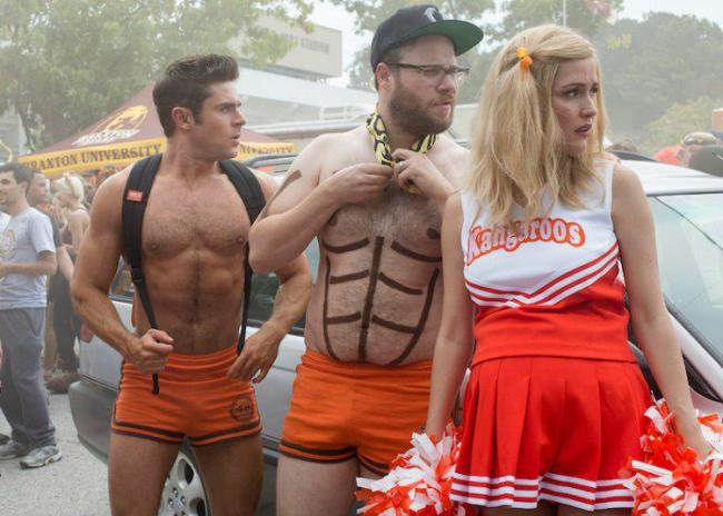 Zac Efron, Seth Rogen and Rose Byrne in Neighbors 2: Sorority Rising