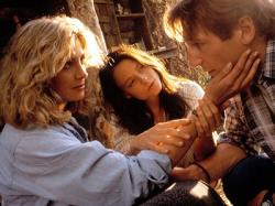 Natasha Richardson, Jodie Foster and Liam Neeson in Nell.