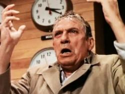 Peter Finch is mad as hell and he's not going to take it anymore in Network.
