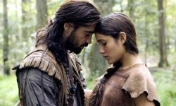 Colin Farrell and Q'Orianka Kilche in The New World.