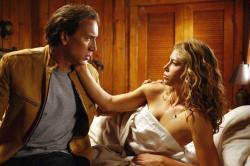 Nicolas Cage and Jessica Biel in Next.