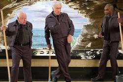 Mickey Rooney, Dick Van Dyke and Bill Cobbs in Night at the Museum.