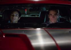 Riz Ahmed and Jake Gyllenhaal in Nightcrawler.