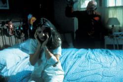 Heather Langenkamp and Robert Englund in Nightmare on Elm Street.