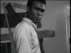 Duane Jones in Night of the Living Dead.