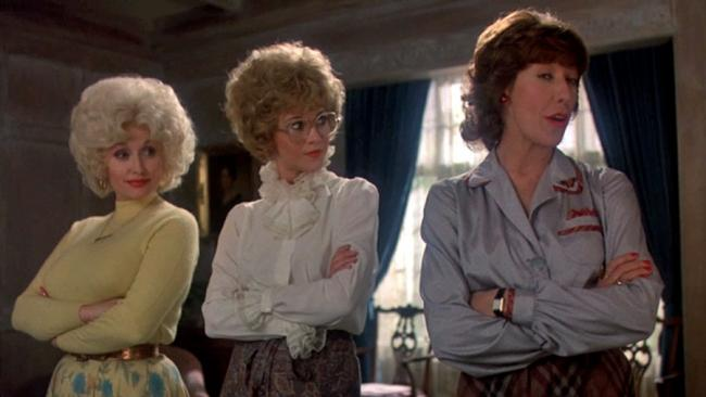 Dolly Parton, Jane Fonda and Lily Tomlin in 9 to 5