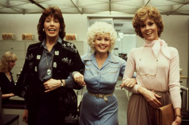 Lily Tomlin, Dolly Parton and Jane Fonda in Nine to Five.