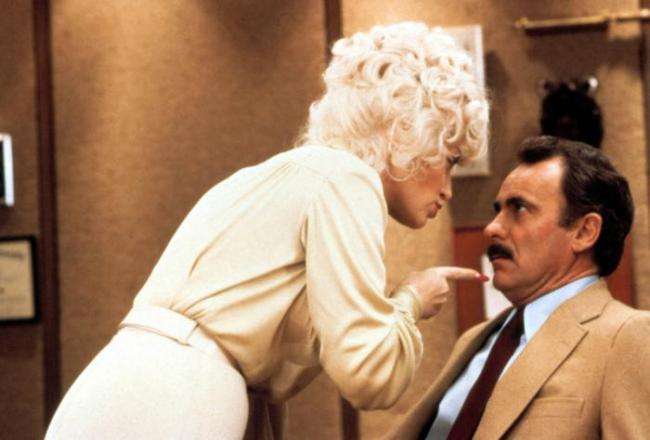 Dolly Parton and Dabney Coleman in Nine to Five.