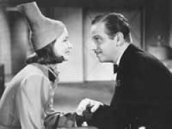 Greta Garbo and Melvyn Douglas in Ninotchka.
