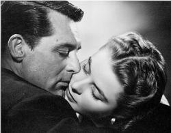 Cary Grant and Ingrid Bergman in Notorious.