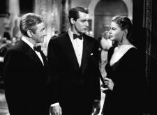 Claude Rains, Cary Grant and Ingrid Bergman in Notorious.
