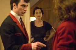 Aaron Johnson and Kristin Scott Thomas in Nowhere Boy.