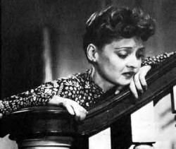 Bette Davis in the schmaltz filled Now, Voyager.